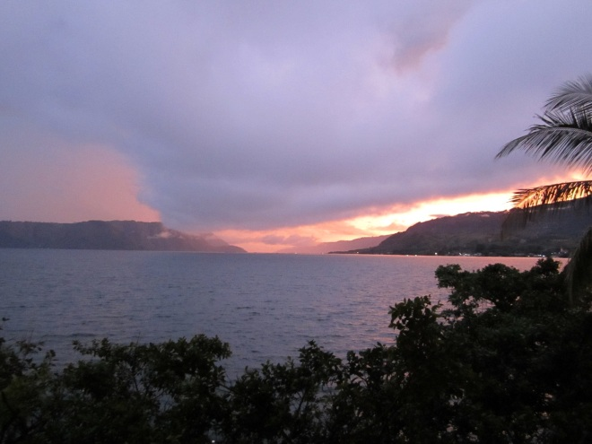 Sunset view from Carolina Cottage, Samosir Island