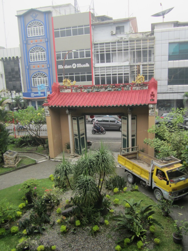 From the second floor, we can see the Kesawan Street